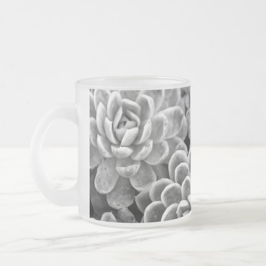 Black and White Star Succulent Mug