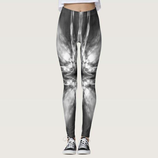 Black and white starburst leggings