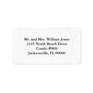 Black and White Starfish Custom Address Labels