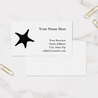 Black and White Starfish Shape Business Card