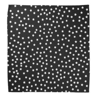 Black and White Stars Bandana