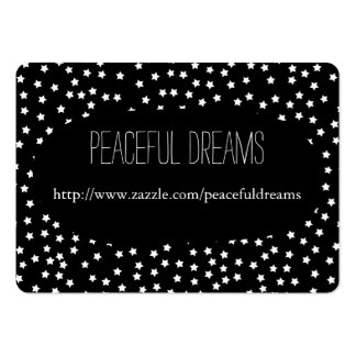 Black and White Stars Business Card Template