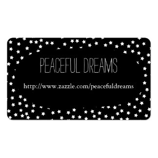 Black and White Stars Pack Of Standard Business Cards