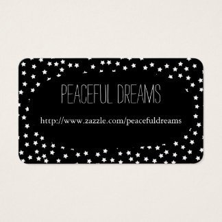 Black and White Stars Business Card