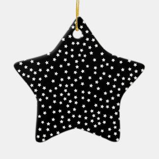 Black and White Stars Ceramic Star Ornament