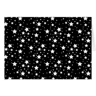 Black and White Stars Greeting Card