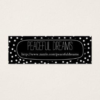 Black and White Stars Mini Business Card