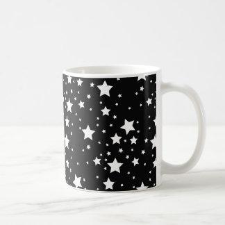 Black and White Stars Coffee Mug