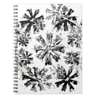 Black And White Stars Notebook