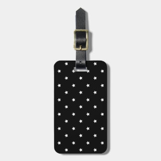 Black And White Stars Pattern Bag Tag