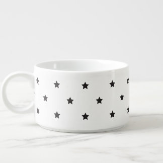 Black And White Stars Pattern Bowl
