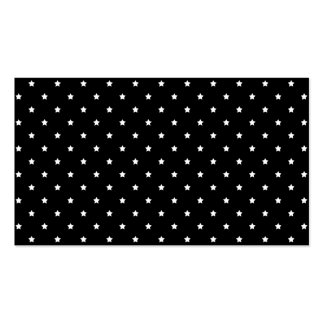 Black and White Stars Pattern. Business Card Templates