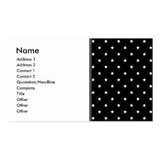 Black and White Stars Pattern. Business Card