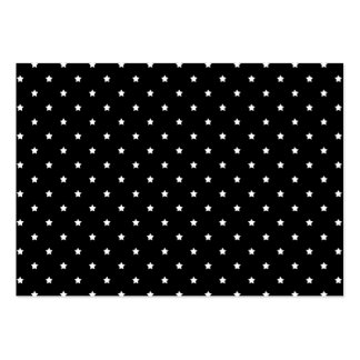 Black and White Stars Pattern. Business Cards
