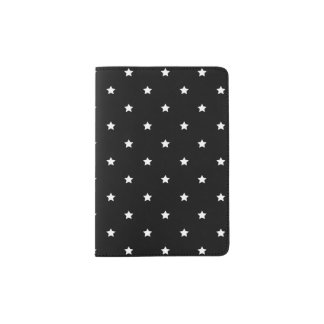 Black And White Stars Pattern Passport Holder