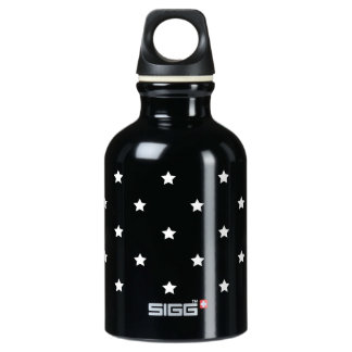 Black And White Stars Pattern Water Bottle