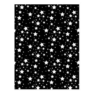 Black and White Stars Postcard
