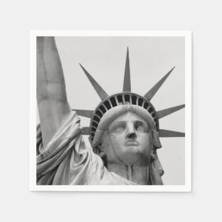 Black and White Statue of Liberty Disposable Napkin