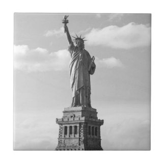 Black and White Statue of Liberty Tile