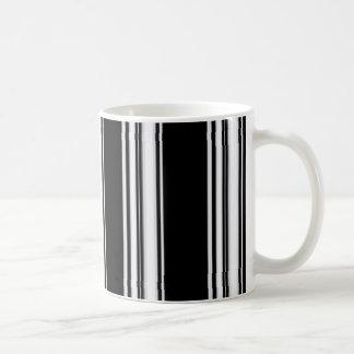 Black and White Stipes Mug