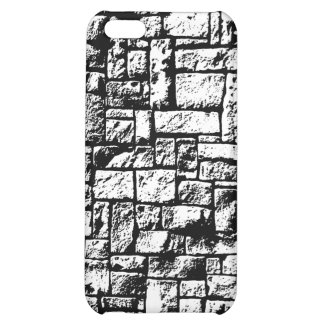Black and White Stone Wall Cover For iPhone 5C