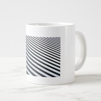 Black and white straight large coffee mug