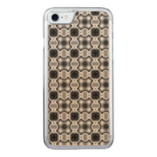 Black and White Strange Round Check Pattern Carved iPhone 8/7 Case