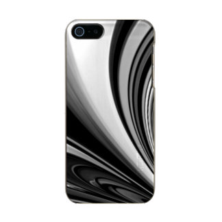 Black and White Streaming Abstract Incipio Feather® Shine iPhone 5 Case