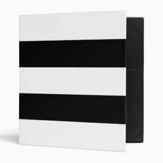 Black and White Stripe Binders