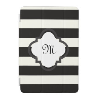 Black and White Stripe iPad Mini Cover
