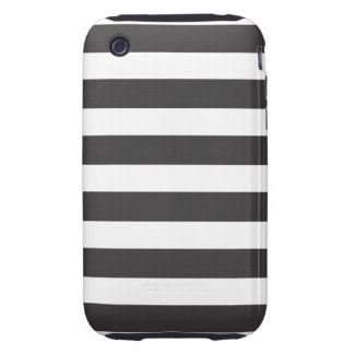 Black and White Stripe iPhone 3 Case-Mate Tough iPhone 3 Tough Cases
