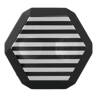 Black and White Stripe Pattern Black Bluetooth Speaker