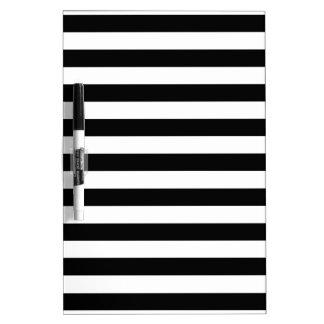 Black and White Stripe Pattern Dry Erase Board