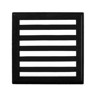 Black and White Stripe Pattern Gift Box