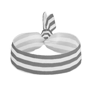 Black and White Stripe Pattern Hair Tie