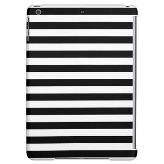 Black and White Stripe Pattern iPad Air Cases