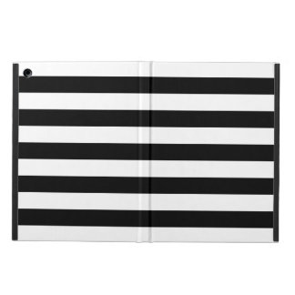 Black and White Stripe Pattern iPad Air Cover