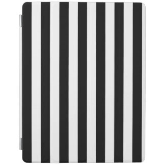 Black and White Stripe Pattern iPad Cover