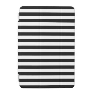 Black and White Stripe Pattern iPad Mini Cover