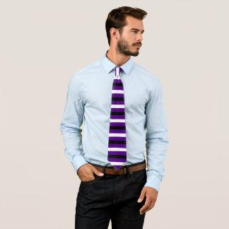 Black and White Stripe Pattern Modern Indigo Tie