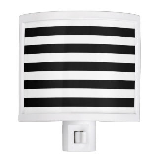 Black and White Stripe Pattern Night Lite