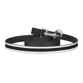 Black and White Stripe Pattern Pet Lead