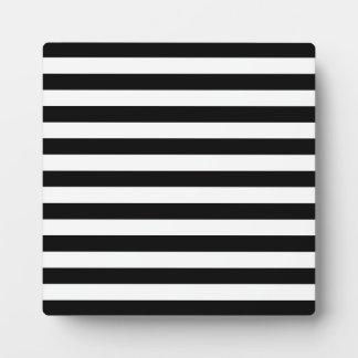 Black and White Stripe Pattern Plaque