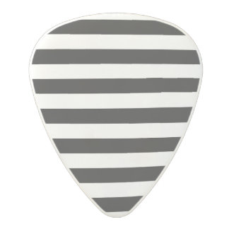 Black and White Stripe Pattern Polycarbonate Guitar Pick