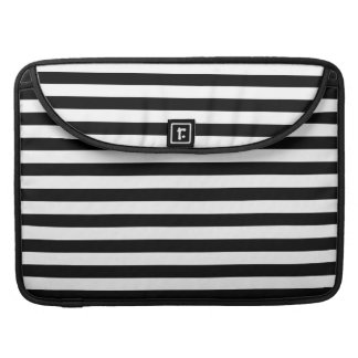 Black and White Stripe Pattern Sleeves For MacBook Pro