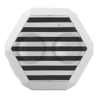 Black and White Stripe Pattern White Bluetooth Speaker