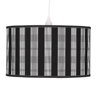 Black and White Stripe Pendant Lamp