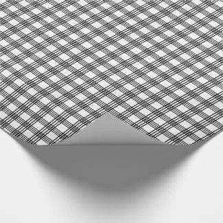 Black and White Stripe Plaid Gift Wrap