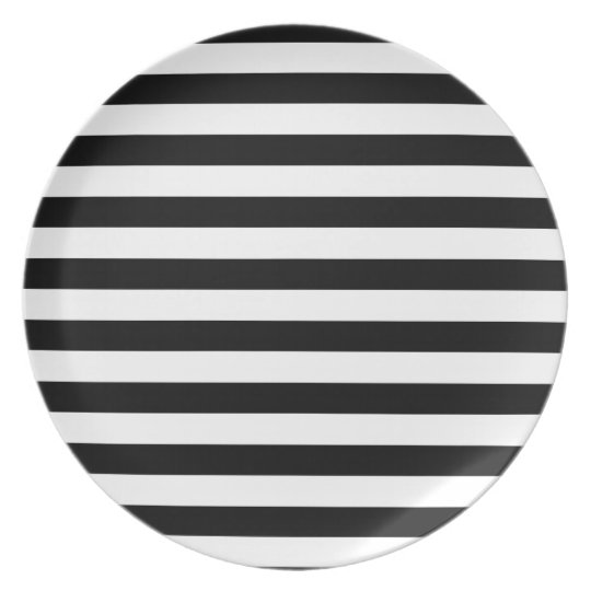 Black and White Stripe | Striped Design Plate