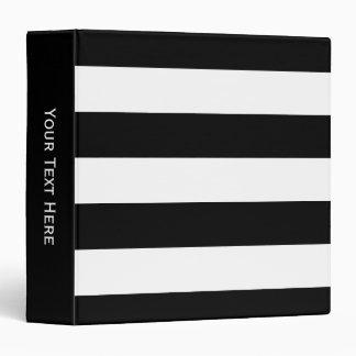 Black and White Striped Binder